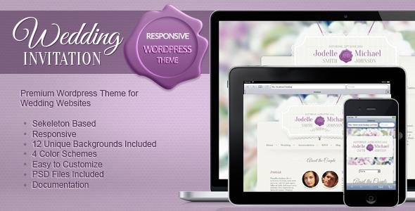 Online Wedding Invitation Websites: Premium WordPress Theme (Personal